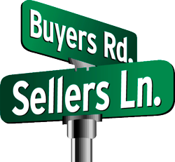 Buyer / Seller Crossroads Sign